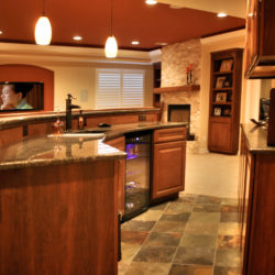 walk behind wet bar in broomfield finished basement