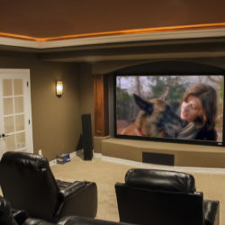 dedicated finished basement movie room