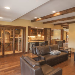 Basement finish and remodel in south Denver.