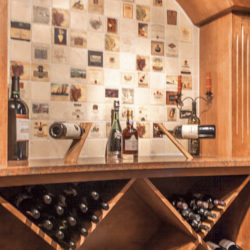 basement finishing - wine rack