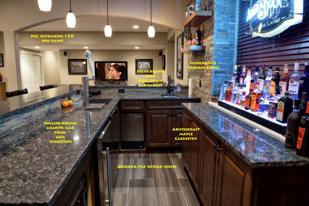 How much does a finished basement cost brothers for Cost to build a bar in basement