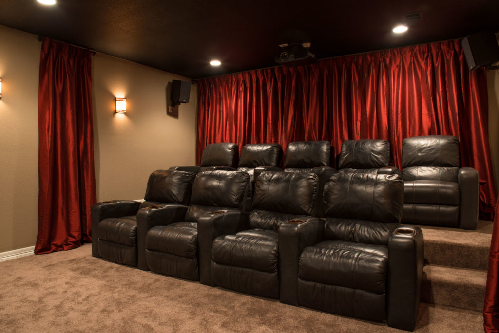 Before design a basement theater brothers - Home theater stadium seating design ...
